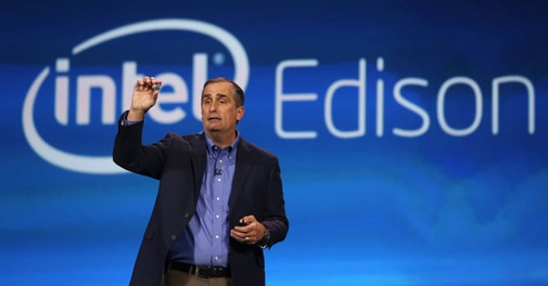 Intel CEO Brian Krzanich during his keynote address at CES 2014 in Las Vegas