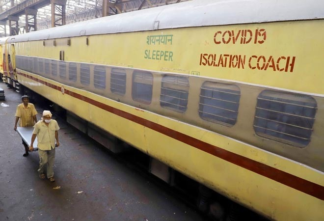 Indian Railways converts 375 coaches to isolation wards daily; 40,000 beds ready