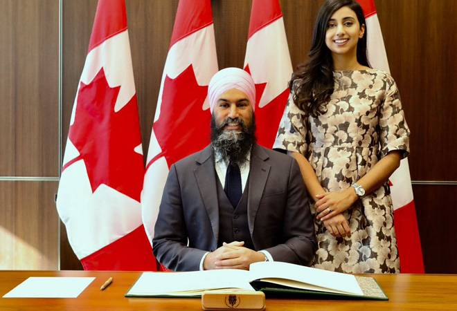 Indian-origin Jagmeet Singh creates history, becomes first non-white leader of Canada Parliament