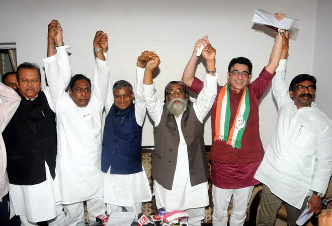Jharkhand grand alliance: Congress to contest in 7 seats, JMM gets 4 and JVM 2 for Lok Sabha polls