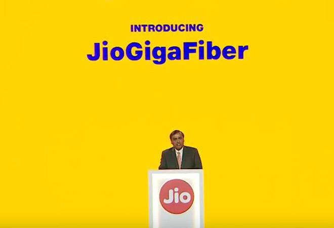 Mukesh Ambani launches JioGigaFiber at RIL's AGM