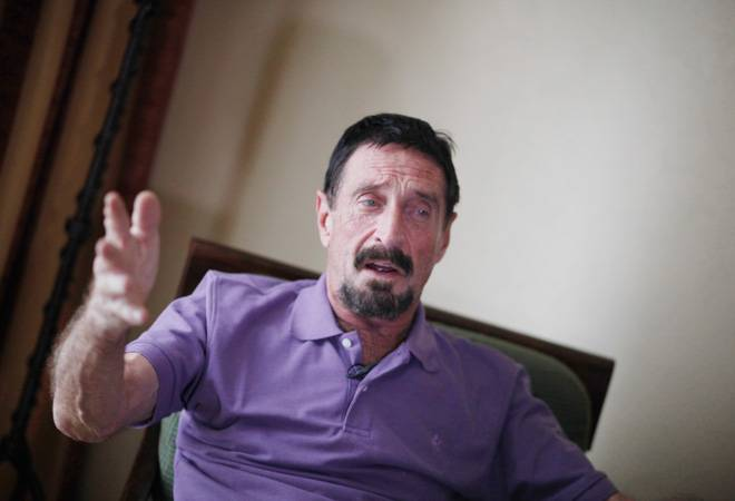 John McAfee urges crypto community to boycott financial institutions dealing with RBI
