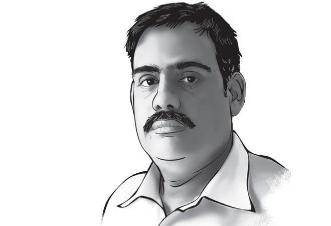 Swabhiman Taxi Union President KK Tiwari