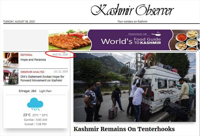 Kashmir disconnected: Blackout hits local news websites, telephone lines down