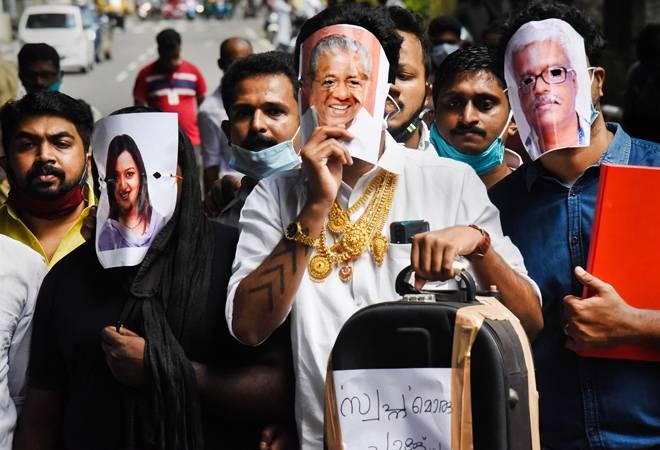 Kerala gold scandal: Opposition holds protests, demands Pinarayi Vijayan's resignation