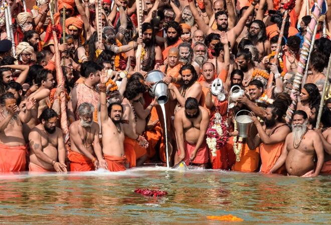 Kumbh Mela: Over 13 lakh ignore Covid concerns; take part in 3rd shahi snan at Haridwar