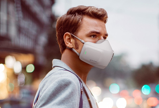 LG unveils Puricare Wearable Air Purifier mask with two H13 HEPA filters
