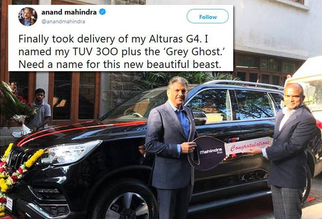 Anand Mahindra throws open challenge to name his new car; winner to get a prize