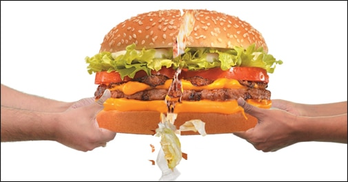 How the burger crumbles