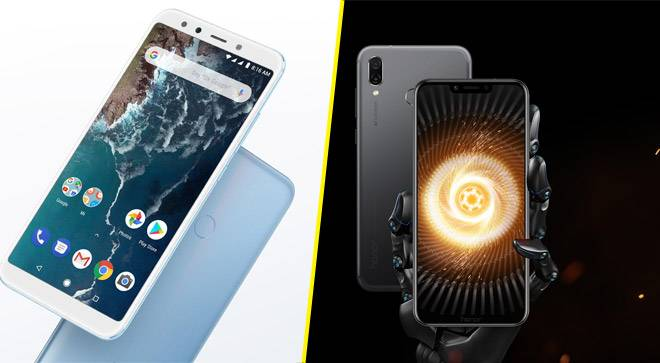 Xiaomi Mi A2 vs Honor Play: Specs and features compared