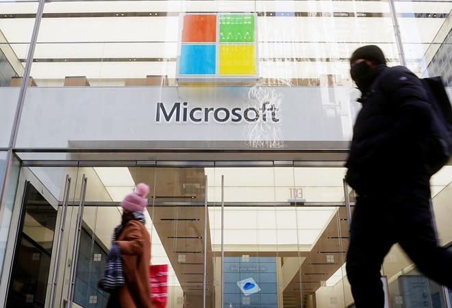 Microsoft's quarterly sales grow on cloud business, shares fall slightly