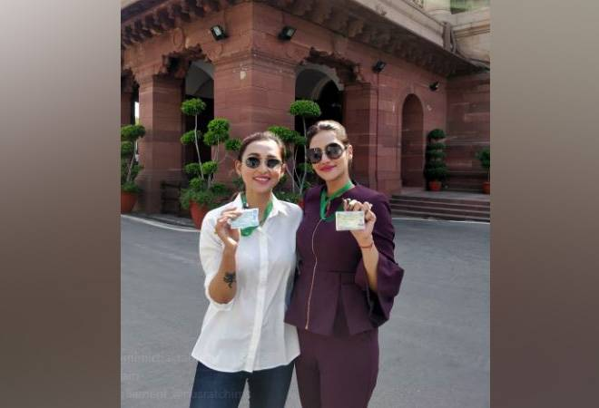 Mimi Chakraborty, Nusrat Jahan share pictures as first-time MPs on social media