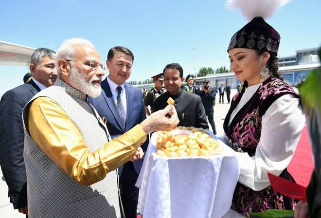 PM Modi arrives in Bishkek for the SCO summit