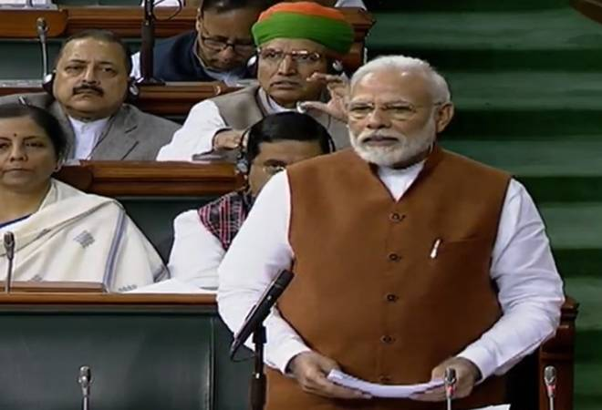 'Fiscal deficit, inflation in check,' says PM Modi in Lok Sabha