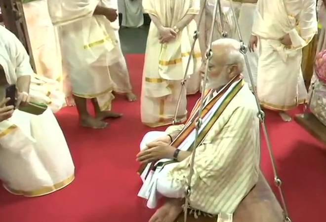 PM Modi offers prayers at Lord Krishna temple in Kerala