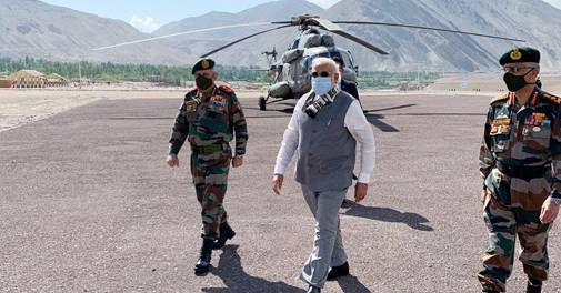 PM Modi makes surprise visit to Ladakh amid rising India-China border tension