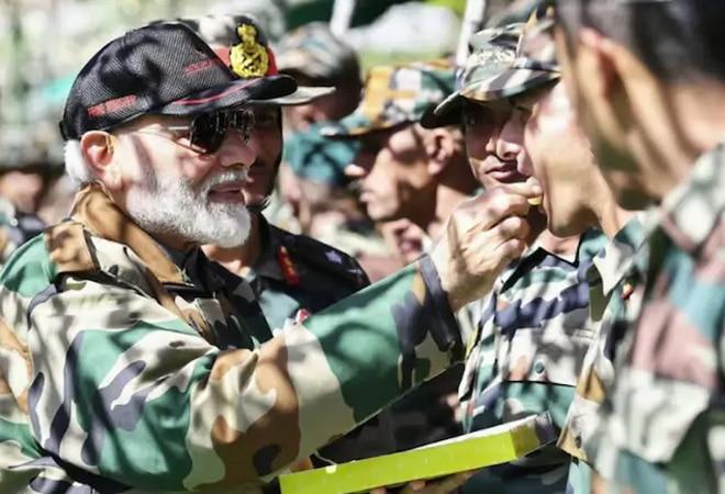 PM Modi greets people on Diwali, reaches Jaisalmer to celebrate festival with soldiers despite COVID-19
