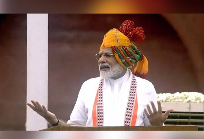 PM Narendra Modi addresses the nation from ramparts of red fort on 73 rd Independence Day