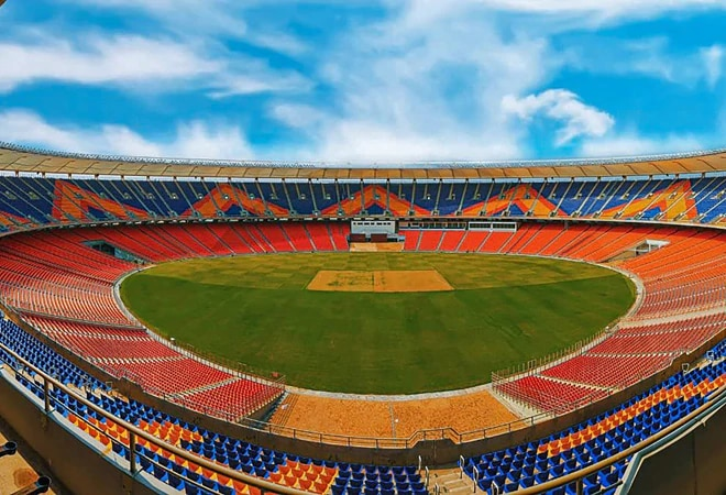 Pink Ball Test: Reliance end, Adani end at Narendra Modi Stadium draw opposition's ire