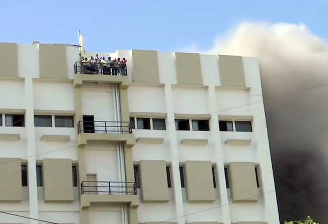 Fire breaks out at MTNL building in Mumbai; people trapped on terrace, rescue operations underway