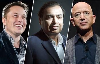Elon Musk richest person in world; Mukesh Ambani wealthiest Indian