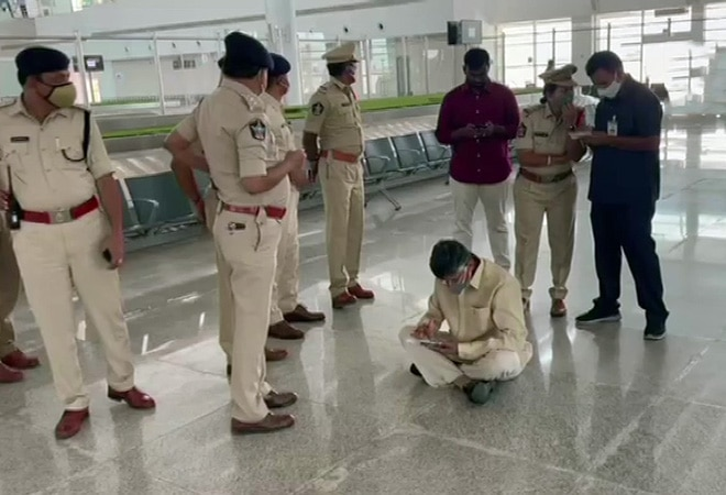 Former Andra Pradesh CM Chandrababu Naidu detained at Tirupati Airport