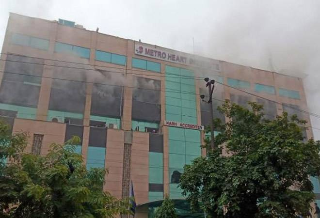 Massive fire at Metro Hospitals in Noida; scores of patients rescued