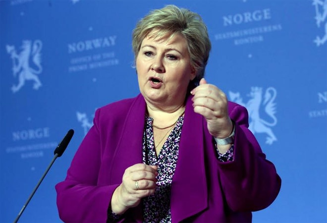 Norway police fines PM Erna Solberg for violating COVID-19 rules