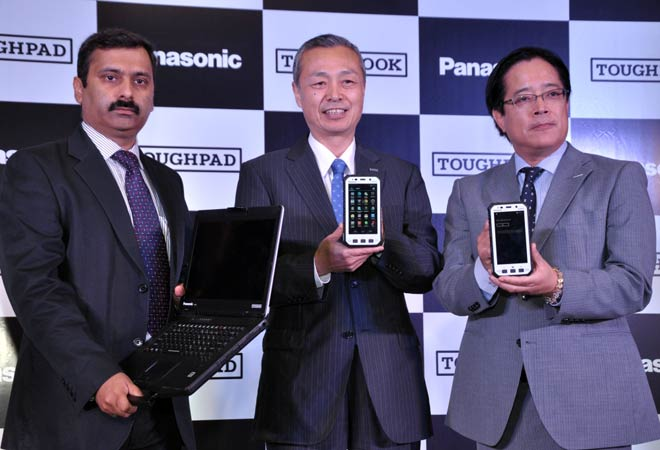 L-R : Mr. Gunjan Sachdev, National Business Head - Toughbook, Panasonic India; Mr. Hide Harada, Managing Officer in charge of Mobile Business Division, Director of IT Products Business Division (ITPBD), AVC Networks Company, Panasonic Corporation; Mr. Tor