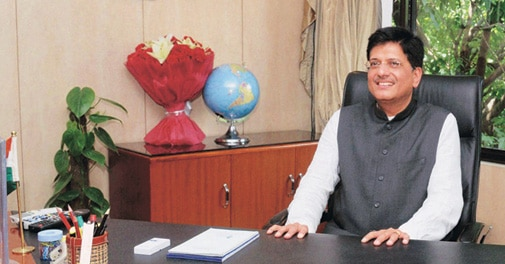 Piyush Goyal heads both the power and coal ministries.