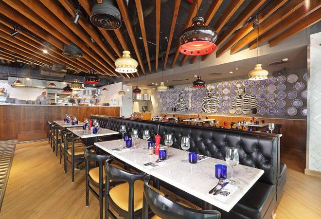 Interiors of PizzaExpress
