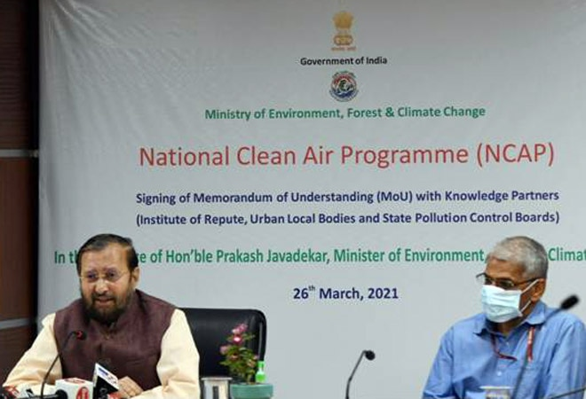 MoU signed to implement action plan in 132 cities under clean air programme