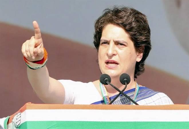 Priyanka Gandhi targets PM Modi in first speech after officially entering politics