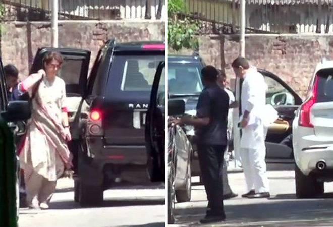 Sachin Pilot, Priyanka, other Congress leaders meet Rahul Gandhi at his residenceSachin Pilot, Priyanka, other Congress leaders meet Rahul Gandhi at his residence