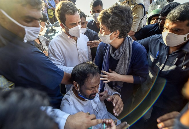 Hathras rape case: Rahul, Priyanka, meet victim's family; promise to fight for justice
