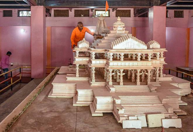 'The main temple will be built in three to three and a half years and will cost Rs 300-400 crore. The expenditure on the development of the entire 70 acre land there will exceed Rs 1100 crore,' said Swami Govind Dev Giri Maharaj, treasurer of Ram Janmabho