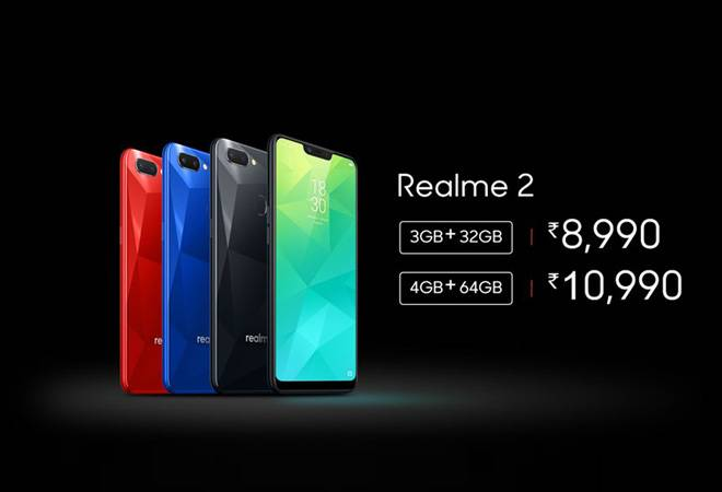 Realme 2 launched with notched display, dual camera at Rs 8,990