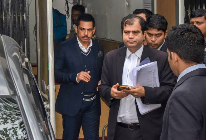 Robert Vadra appears before ED for third time in money laundering case probe Robert Vadra appears before ED for third time in money laundering case probe