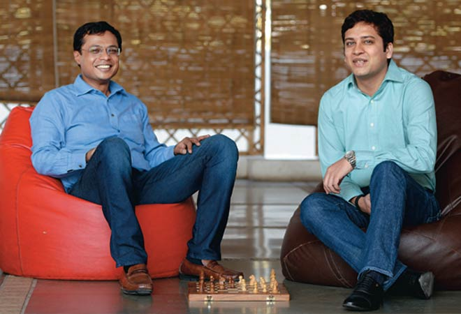 Flipkart CEO Sachin Bansal (left) with COO Binny Bansal. (PHOTO: Nilotpal Baruah/www.indiatodayimages.com)