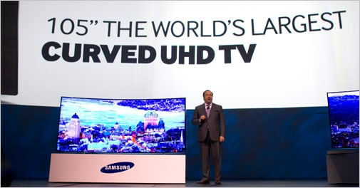 Samsung unveils curved UHD TVs, tablets at CES 2014