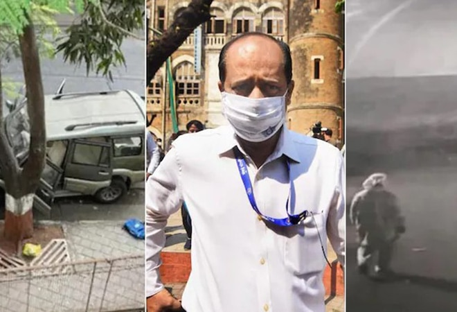 Ambani bomb scare: NIA makes Sachin Vaze walk near Antilia to reconstruct crime scene