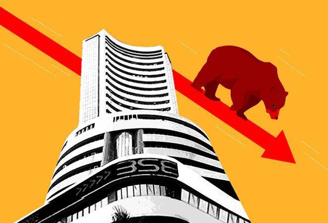 Sensex ends 143 points lower, Nifty at 10,768; banking shares lead losses