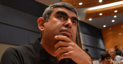 Vishal Sikka logs into Infosys on Friday