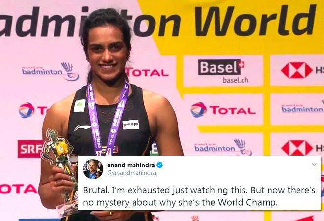 Badminton champion PV Sindhu's 'brutal' workout leaves Anand Mahindra 'exhausted'
