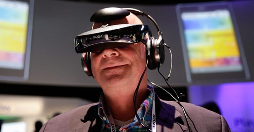 Sony headset almost puts you inside video