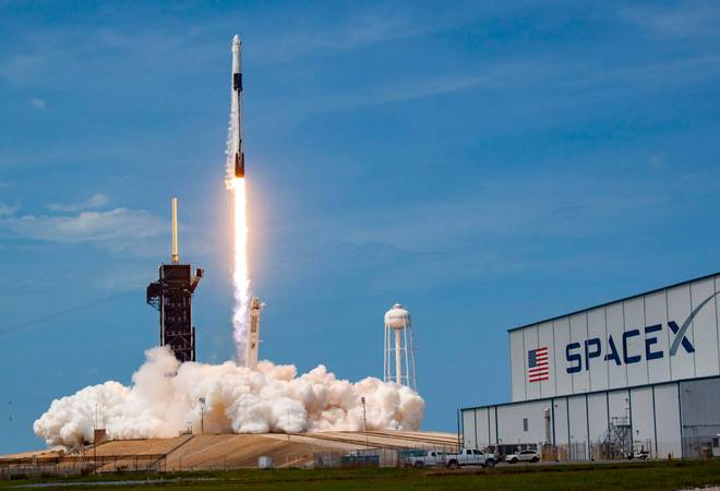 In a first, Elon Musk's SpaceX propels two NASA astronauts into orbit