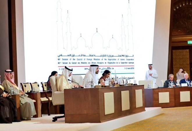 Pakistan leaves the chair empty as Sushma Swaraj speaks against terrorism at OIC meet