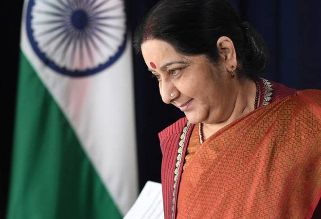Sushma Swaraj schools distressed student with 'Indian-occupied Kashmir' in Twitter bio
