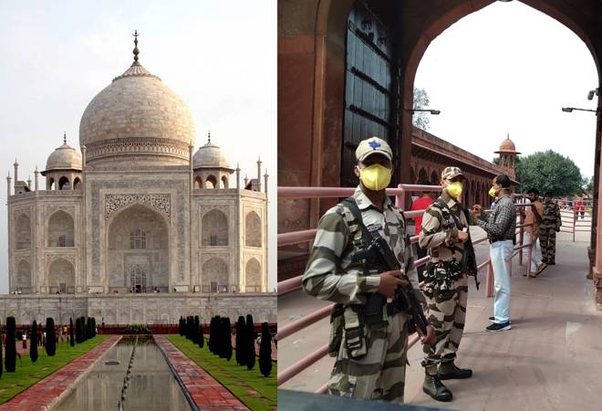Taj Mahal on coronavirus alert! Masked personnel, thermal guns welcome tourists