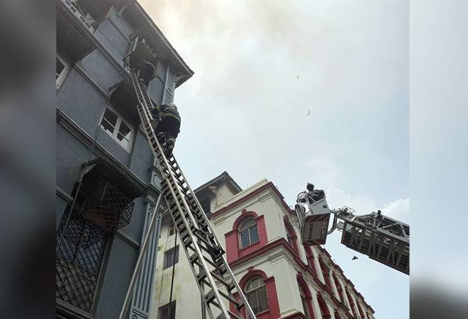 Mumbai fire: Third floor of Churchill Chamber building ablaze; rescue operations underway
